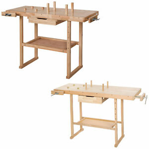 Établi en bois rangement outils atelier bricolage table garage plan de travail n