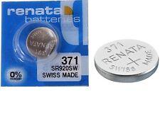 Renata 370/371 SR920W Watch Batteries x1 Swiss Made Cell Button Sil-Oxide 1.55v