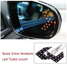 1x 14 SMD LED Arrow Panel For Cars Rear View Mirror Turn Signal Light Yellow UP