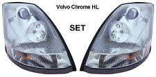 Volvo VNL Truck Chrome Headlight (RH+LH) Set 2004-2017 82329127 & 82329123