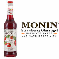 Monin Coffee Syrups - STRAWBERRY - 25cl Glass Bottle - AS USED BY COSTA COFFEE