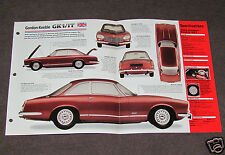 1964 1965 1966 GORDON-KEEBLE GK1/IT Car SPEC SHEET BROCHURE PHOTO BOOKLET