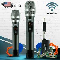 EMB M42W Dual UHF Wireless Handheld Microphone System with Rechargeable Receiver