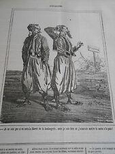 Caricature 1863 Pologne la liberté de la boulangerie
