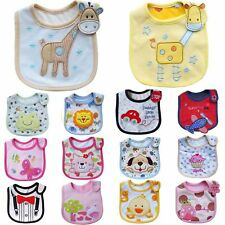Newborn Baby Saliva Dribble Burp Cloth Waterproof Apron Toddler Feeding Bibs