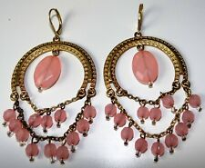Light Pink Beads Boho Chic ~ New # Avon Mark Glamoratti Earrings Goldtone With