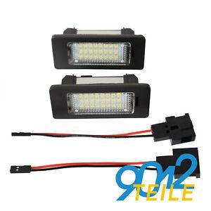 für Audi A4 Avant 8K5 B8 bis 2011 LED Kennzeichenbeleuchtung Kennzeichenleuchte