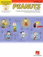 """""""PEANUTS"""" INSTRUMENTAL PLAY-ALONG MUSIC BOOK/CD FOR """"VIOLA"""" BRAND NEW ON SALE!!"""