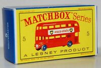 Matchbox Lesney  No 5 LONDON BUS  empty Repro D style Box