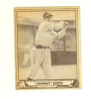 1940 Play Ball  #108 Johnny Rizzo Pittsburgh Pirates VG no creases