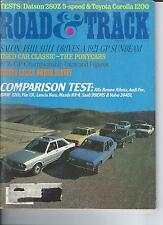 Road & Track March 1977, Alfa Romeo Alfetta, Audi Fox, Lancia Beta, Saab 99EMS