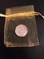 Beatrix Potter 2016 Peter Rabbit 50p uncirculated easter egg giftbag bunny coin