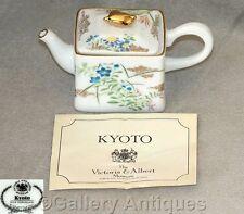 Vintage V & A museum KYOTO JAPAN porcelain MINIATURE TEAPOT Franklin Mint 1985
