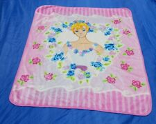 Barbie Plush Blanket Throw Pink With Roses 50 X 58