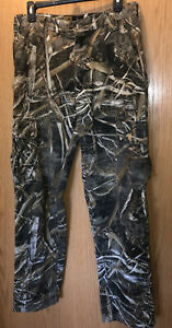 Browning RealTree Max-5 Camo Cotton Blend Hunting Field brush Pants Mens Size S
