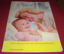 Attic find Book Mother and Child Guidance Infant Care 1960 Old Advertising