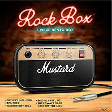 Mustard Rock Lunch Box Guitar Amplifier Bento Novelty Snack Packed Lunch Box Tin