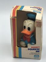 "Vintage Disney Donald Duck 5"" Baby Rubber 1983 Squeeze Me Toy Box Child Guidance"