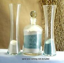 Wedding Unity Sand Ceremony Set Personalized glass top curved vase Euro style