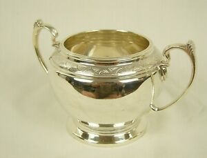 Large Quality Silver Sugar Bowl / Sucrier 1937 by Mappin & Webb 250g