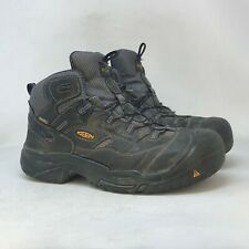 Keen Mens Brown Leather Hiking Boots Ankle Top Lace Up Round Toe Comfort Size 12