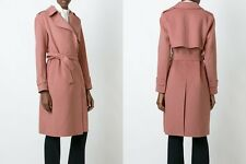 NWT Theory Oaklane wool-cashmere coat pink size L