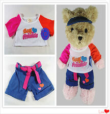 New Build a Bear Teddy Clothes Best Friends Outfit With Hat Set