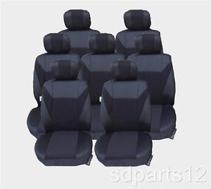 Coprisedili Neri 7 Posti Per VW Touran Sharan Ford Galaxy 7 Copri Sedili