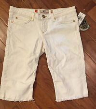 NWT Womens Juicy Couture Cloud Frankie Denim White Jeans Shorts Sz 30 $148