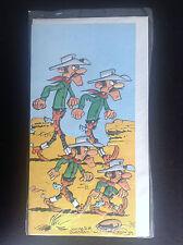 TRES RARE carte gaufrée Lucky luke 1979 Dargaud ETAT NEUF
