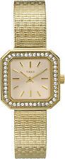 TIMEX LASDIES GOLD STYLE ELEGANT DIAMANTE WATCH T2P550