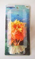 Aqua Buddies Aquarium Plant - Orange Plastic - Small 4 inches Item #105