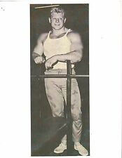 DAVE DRAPER at Weider Warehouse Union City N.J.Bodybuilding Muscle Photo B&W