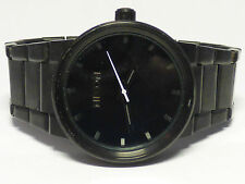 "Nixon Shoot to Thrill ""The Cannon"" SS Black Tone Black face Men's Wrist Watch"
