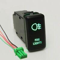 Green LED Fog Light Push Switch DC 12V For Toyota Landcruiser HILUX Prado
