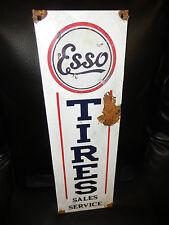 Antique style-porcelain look Esso extra dealer gas station pump sign tire sales