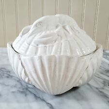 New BLUE SKY NAUTICAL LOBSTER Covered Bowl Soup Tureen Rustic Shell Base Chowder