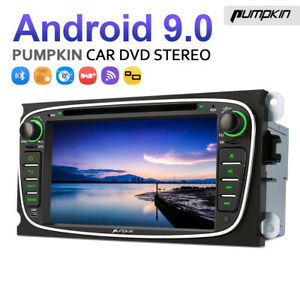 Pumpkin Android 9.0 Autoradio GPS Navigation DVD BT Für Ford Focus Mondeo S-max