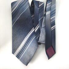 Burton Vintage Blue Striped Casual Shirt Tie