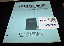 /////ALPINE 8035 Mobile SECURITY SYSTEM Car Auto ALARM INSTALLATION Manual🚘🚨🔧