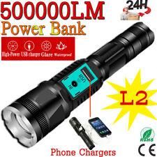 Flashlight Usb Light Police Aluminum Super 5 ModesTactical T6 18650 Rechargeable