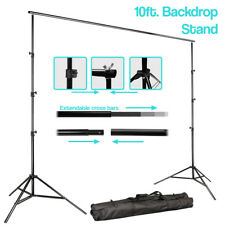 Adjustable 10' Photography Studio Background Muslin Support Stand w/ Carry Bag