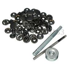 Heavy Duty Poppers Snap Fasteners Press Stud Rivet Sewing Leather Craft Clothing