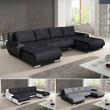 Wohnlandschaft Eckcouch Ecksofa Otis - Big Sofa U, Couch mit Schlaffunktion