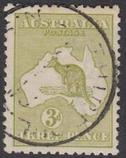 More details for australia kangaroo series :1915 3d yellow-olive  die ii sg37d fine used