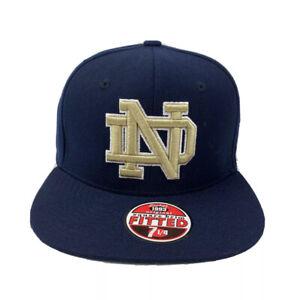 Men's  Notre Dame Fighting Irish Zephyr Fitted Cap/Hat  Size-71/4 Navy