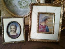 coppia di miniature  preziose e antiche raffiguranti Madonne