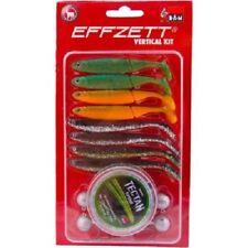 DAM Effzett Kit da pesca verticale (Pike, Zander, wrasse esche artificiali, Kayak) confezione da 15pcs