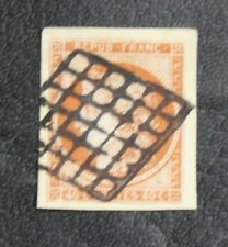 TIMBRES DE FRANCE :  1849/50 YVERT N° 5 CERES 40 CENTIMES ORANGE PARFAIT Oblit.