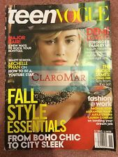 ☀NEW Teen Vogue November 2013 DEMI LOVATO Hunger Games Catching Fire Beauty